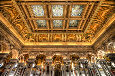 Skylights in the Great Hall, Library of Congress