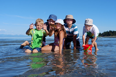 Graeme, Erik and friends at Miracle Beach Park.