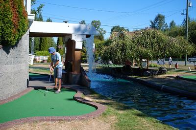 Mini golf near Miracle Beach.