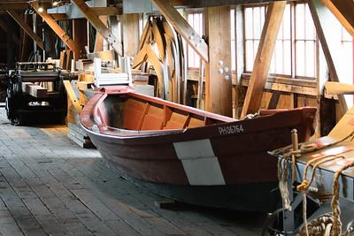Fishing boat exhibit at Brittania Shipyard, Steveston.
