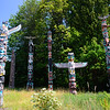 Totem exhibit at Stanley Park.