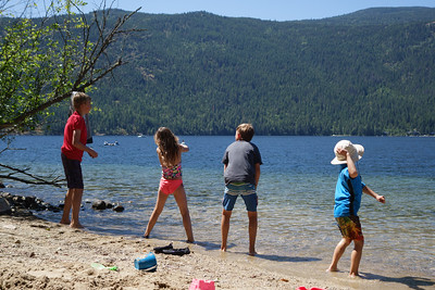 Throwing rocks, Christina Lake