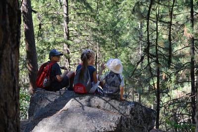 Hiking at Christina Lake