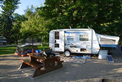 Campsite at Okanagan Lake campground
