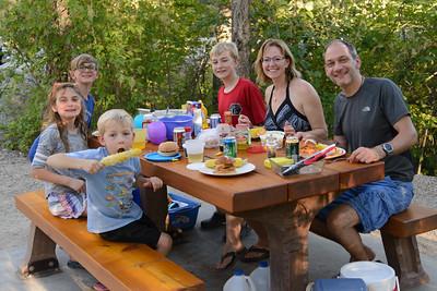 First dinner at Chirstina Lake campground.