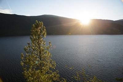 Sunset at Christina Lake.
