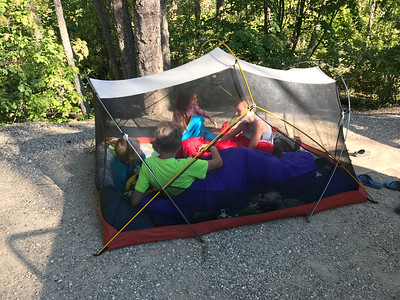 Open air tenting, Christina Lake