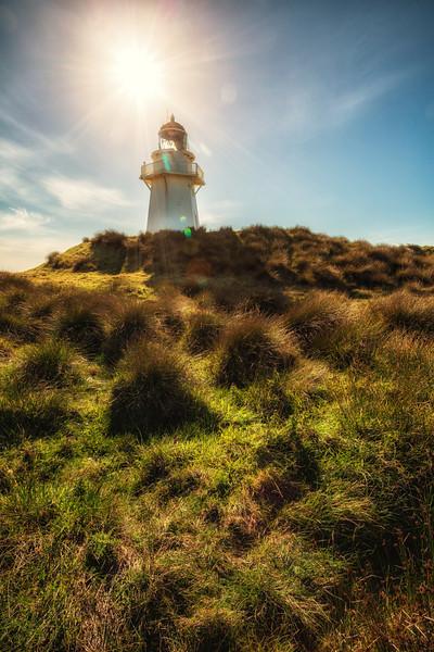 Sun Beats Lighthouse