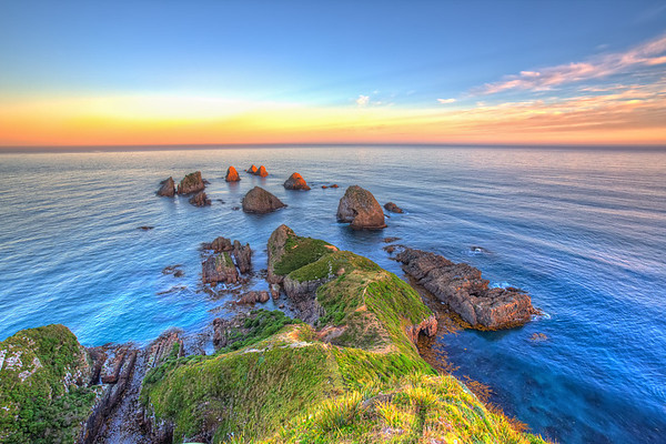 Last Light at Nugget Point