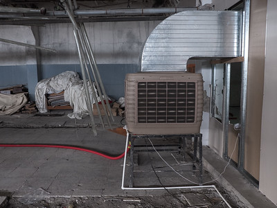 Water-fed cooling units imported from China; cooling systems are crucial for keeping any bitcoin mining system from overheating. Tbilisi, Republic of Georgia. Photo: Joe Harrison.