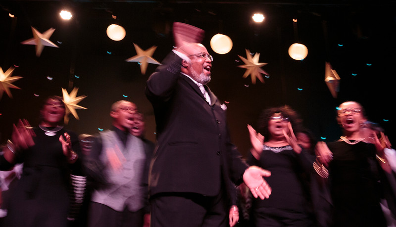 Nadav Soroker/Times-Georgian<br /> <br /> Minister Chip Collins leads the MLK Community Choir at the 26th annual Rev. Dr. Martin Later King Jr. Ecumenical Service at City Station, on Sunday, January 20, 2019.