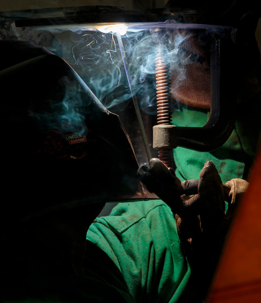 Nadav Soroker/Times-Georgian<br /> <br /> Inmates learn welding through one of the programs for post-release success at the Carroll County Prison, on Wednesday, March 27, 2019.