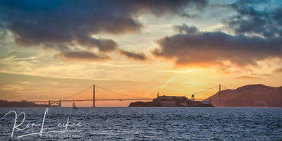 """The Rock"" - Alcatraz at Sunset"