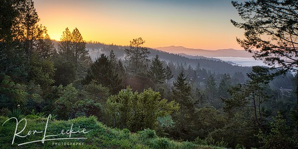 Sunrise over Napa Valley from Howell Mountain