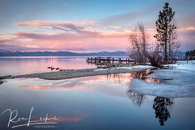 Winter Sunset at Lake Tahoe
