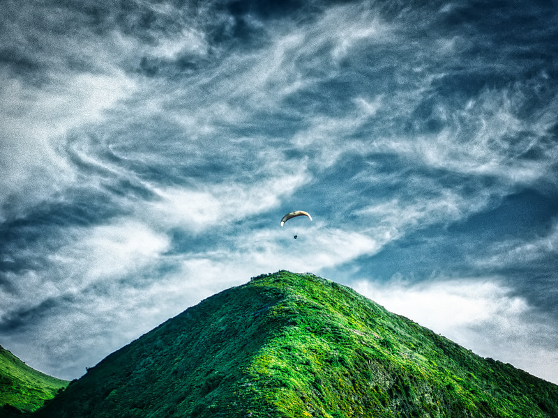 Flying Over The Hill