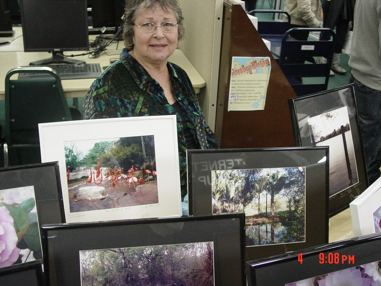 Wendy Burrows exhibiting her photography.