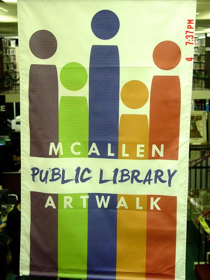 McAllen Public Library ArtWalk Banner