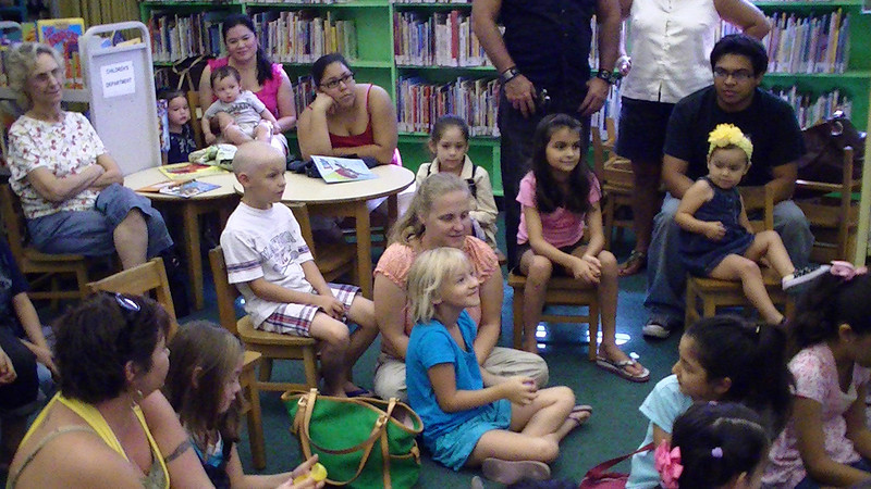 The puppet show at the Main library from July 15, 2010.