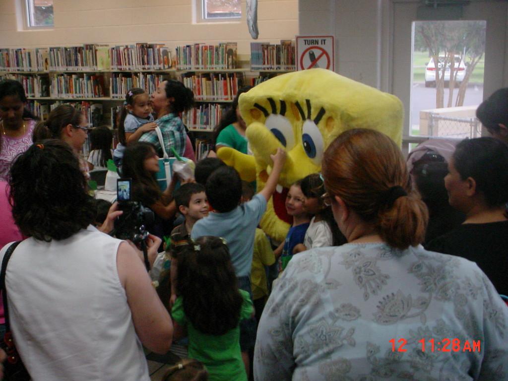 Spongebob at McAllen library!