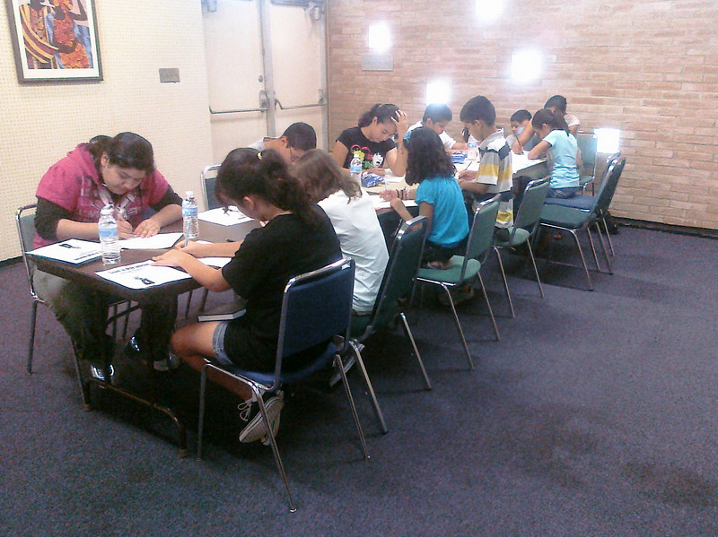 Teens and Tweens were invited to learn to draw emotion on the faces of manga characters with New York artist and teacher Rebecca Oxley at the Main library on August 14, 2010.