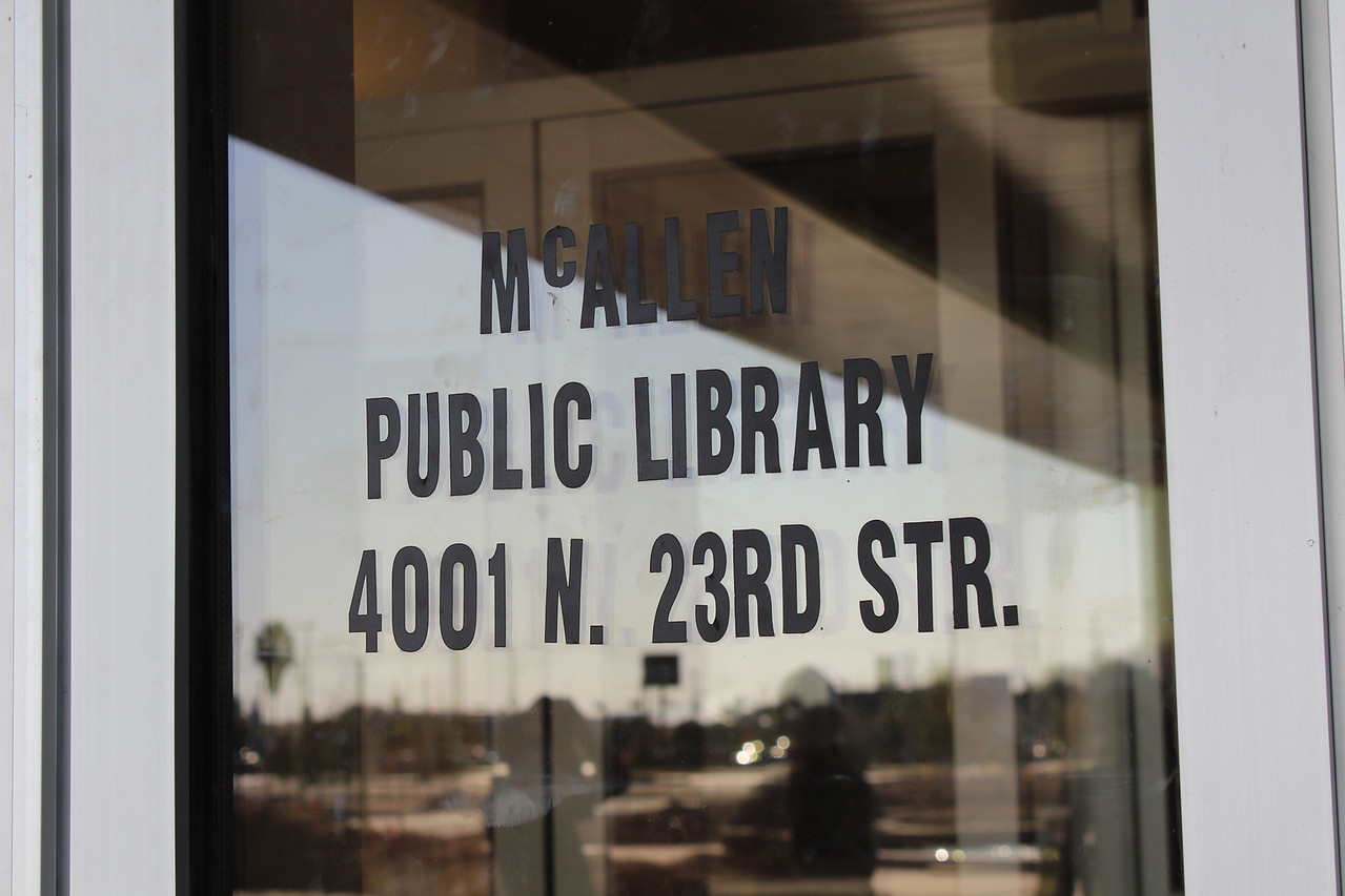 """Address of our future home! <a href=""""http://www.mcallenlibrary.net/about/newmain"""">http://www.mcallenlibrary.net/about/newmain</a>"""