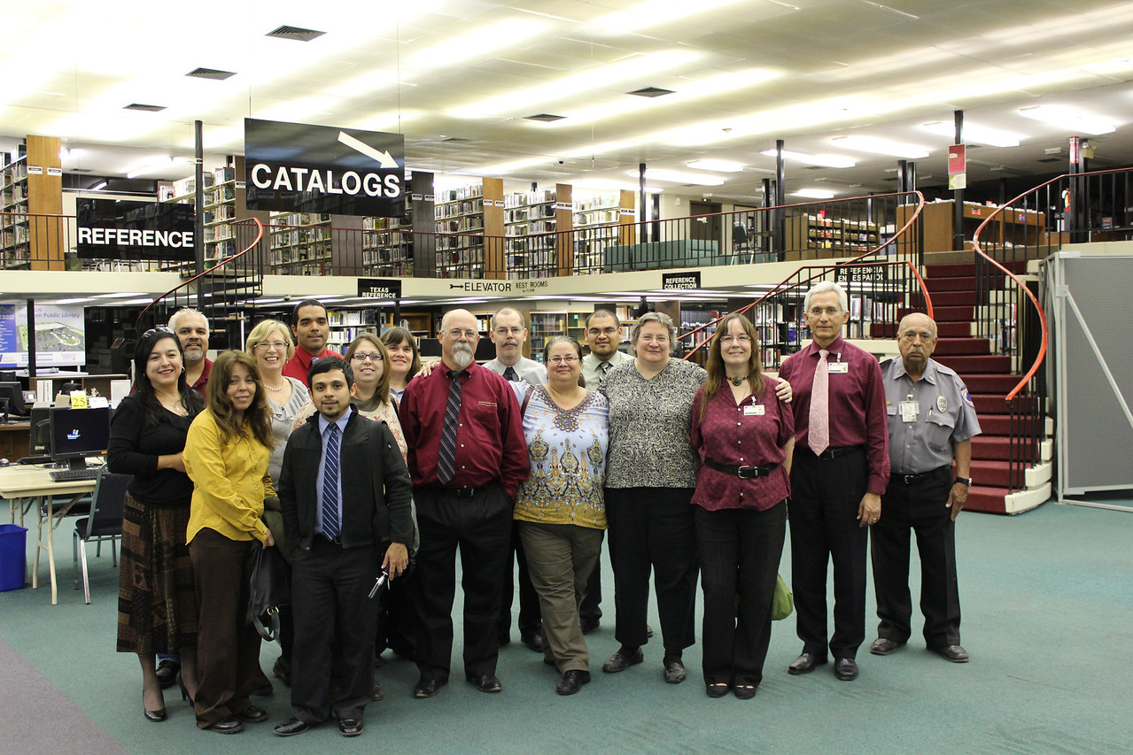 Library staff present at the time of closing.