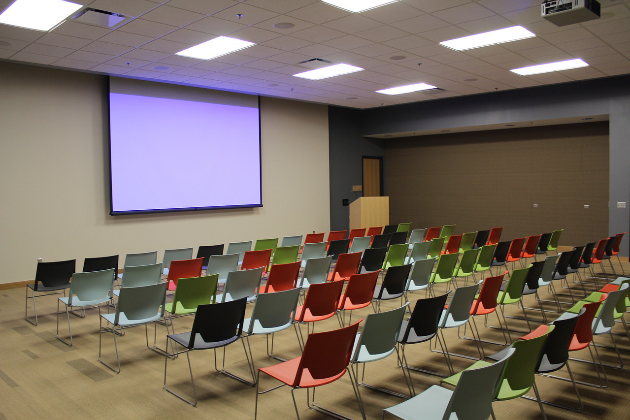 "Setup Option 2: Presentation Style (No Tables). Applies to Meeting Rooms A & B only. For complete details: <a href=""http://bit.ly/mplmeeting"">http://bit.ly/mplmeeting</a>"