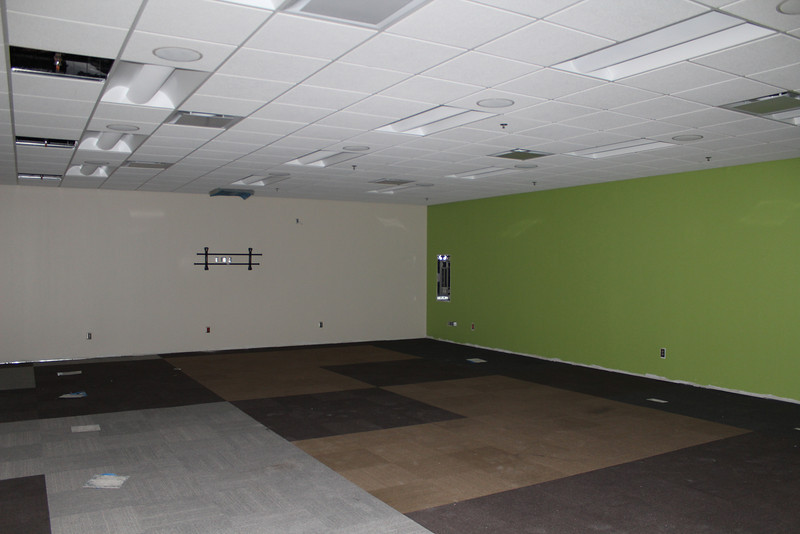 Interior of one of the two electronic classrooms.