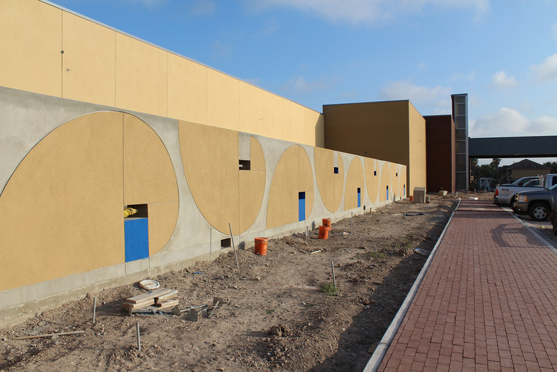 Exterior wall of the outdoor children's area.