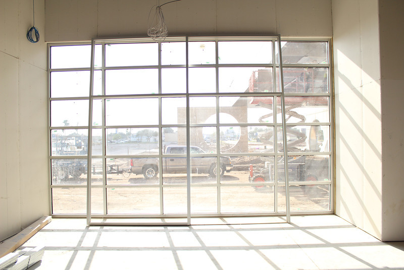 A view from inside the cafe.