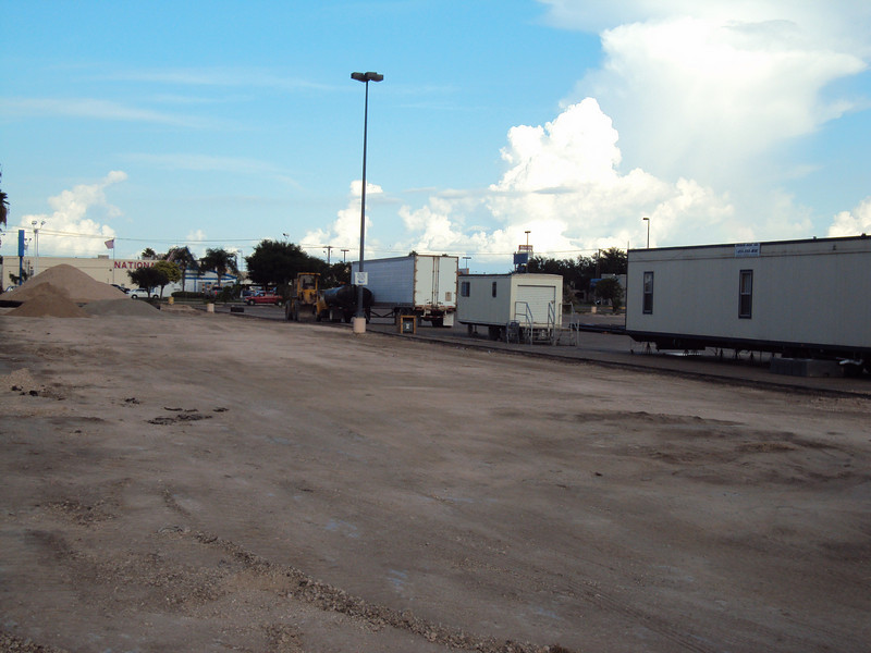8/11/2010 - The north side of the parking lot.