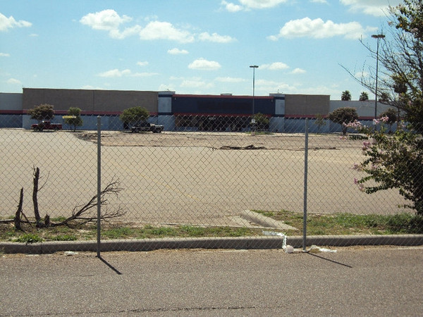 7/11/2010 - Here is the front of the building. Asphalt has been stripped where the water fountain feature will be built.