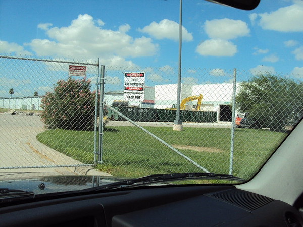 7/11/2010 - The southwest corner of the site where the old automotive shop exists.