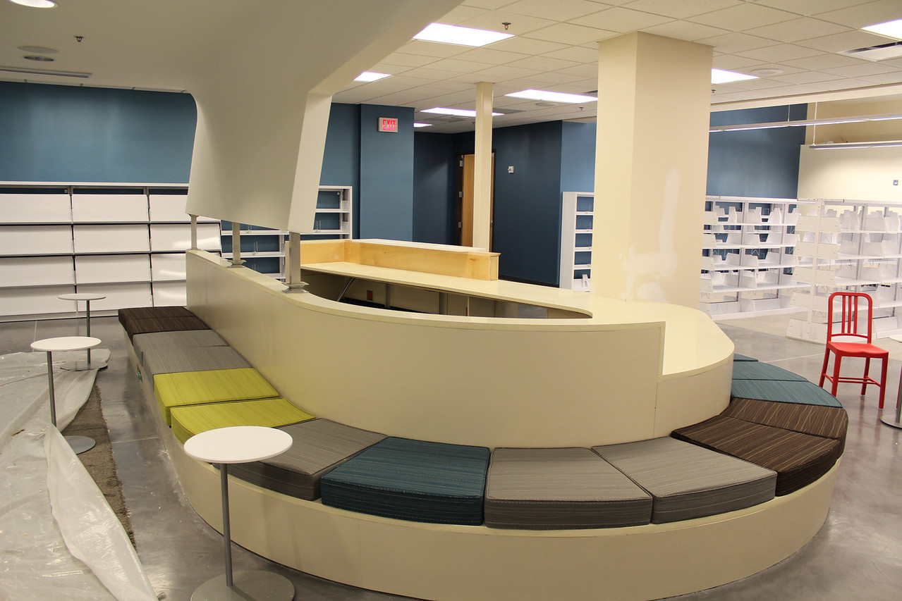 Teen service desk/social space