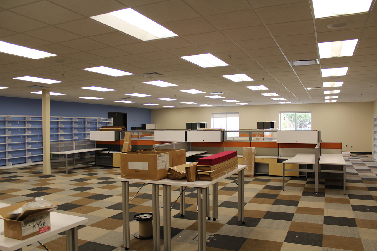 Library staff workroom (Technical Services).