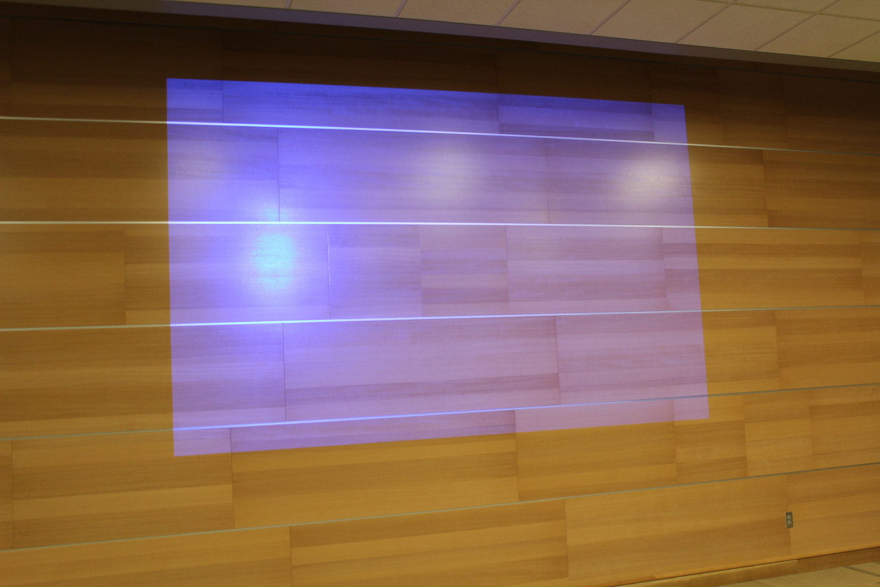 Projection in Meeting Rooms A & B.