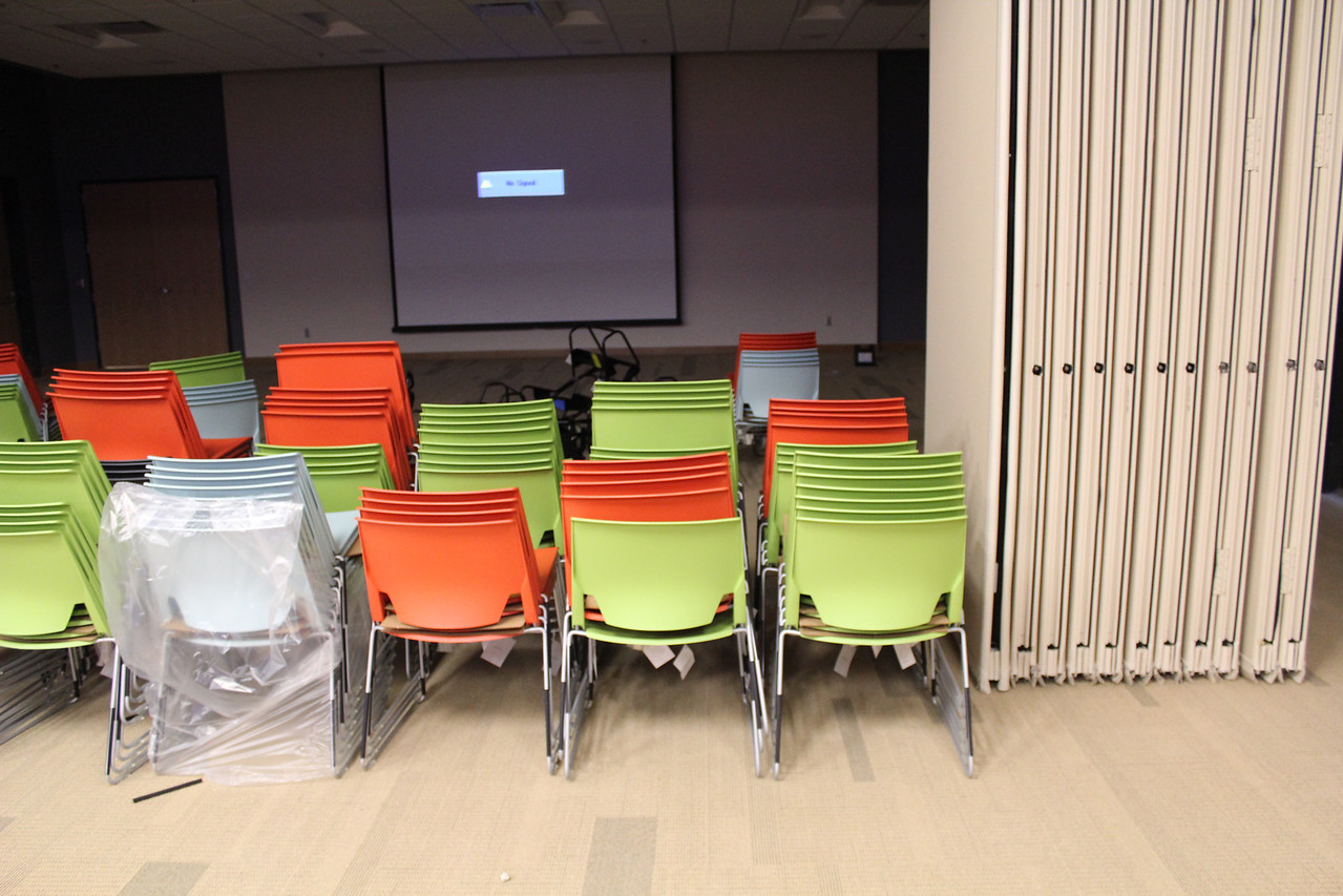 Chairs in Meeting Rooms A & B.