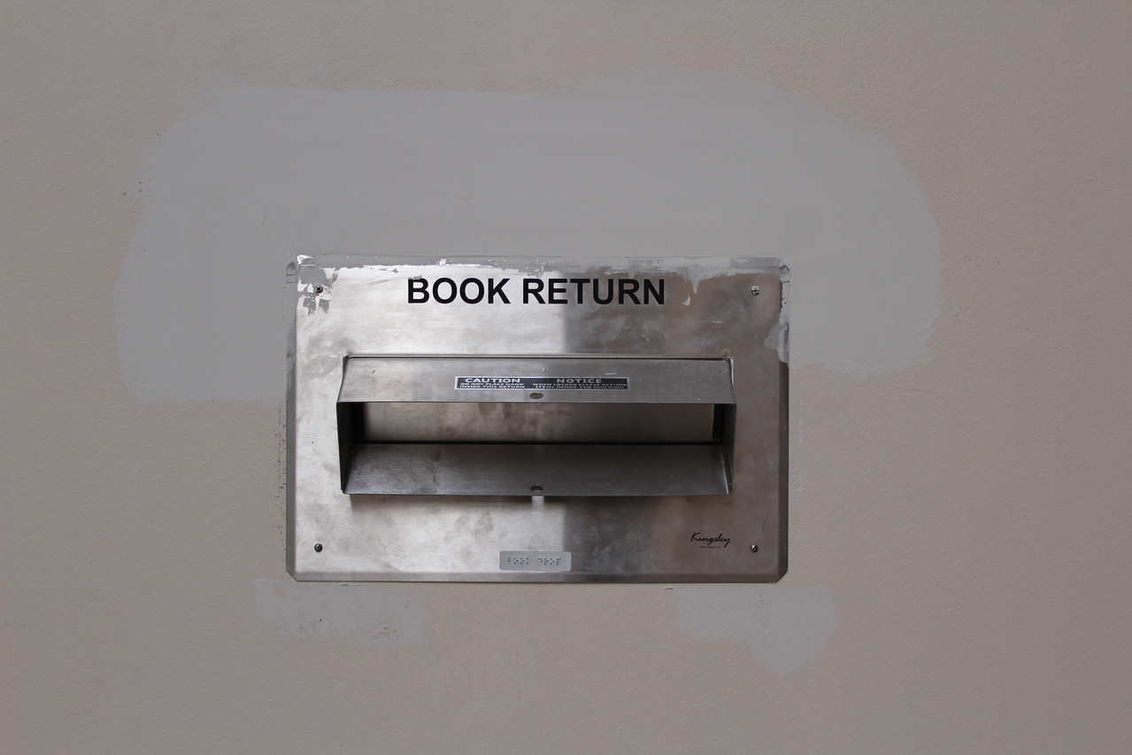 book return in the main lobby of the building