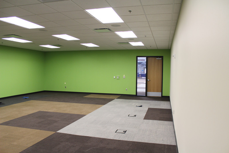 Inside one of the two electronic classrooms.