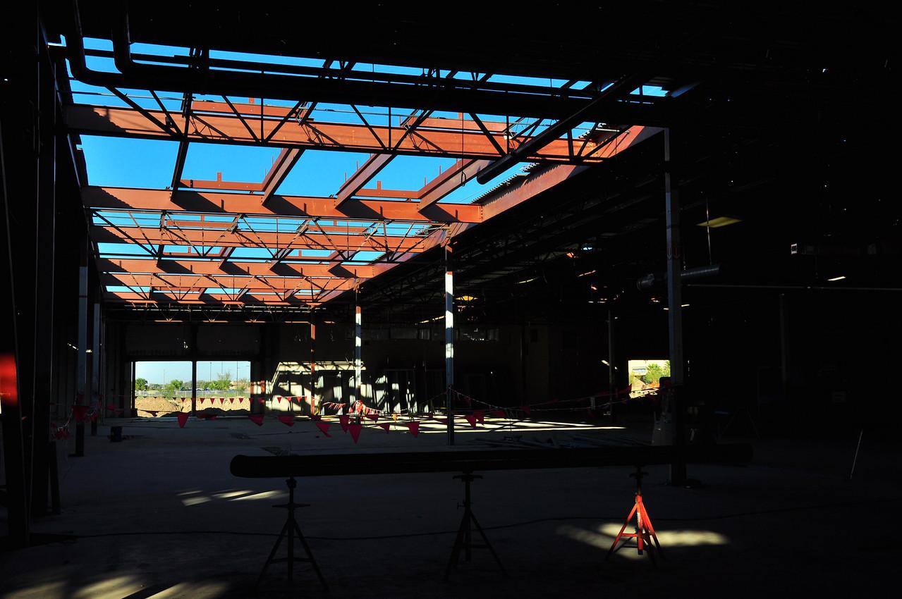 Skylight area over main corridor
