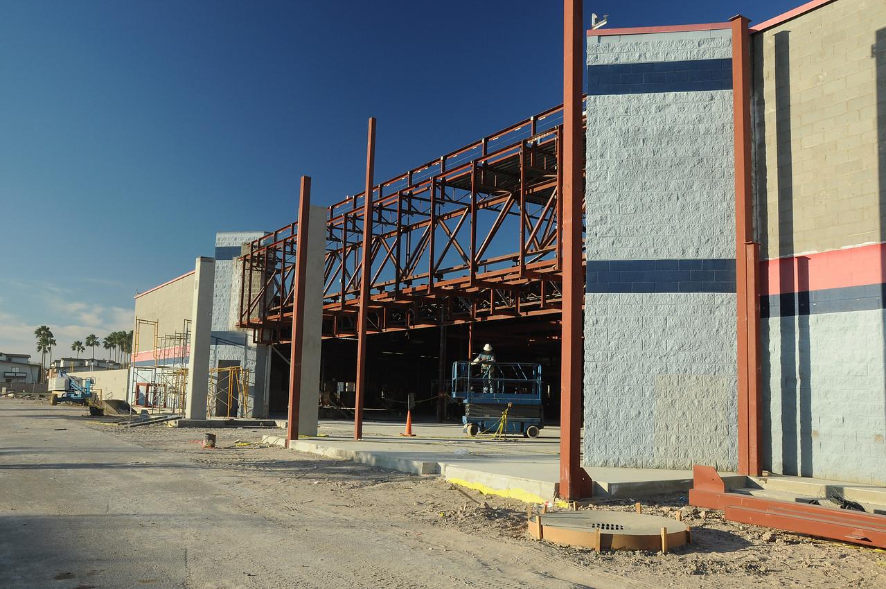 Entrance, facade removed
