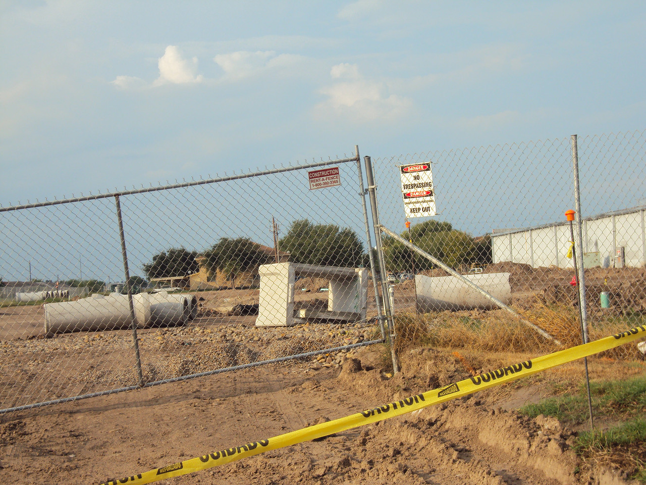 9/26/2010 - West side of the building (rear); off of Nolana.