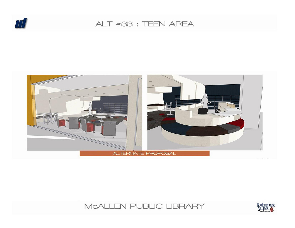Interior view of the new Main Library's teen area.