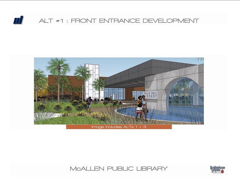 Front entrance of the new Main Library.
