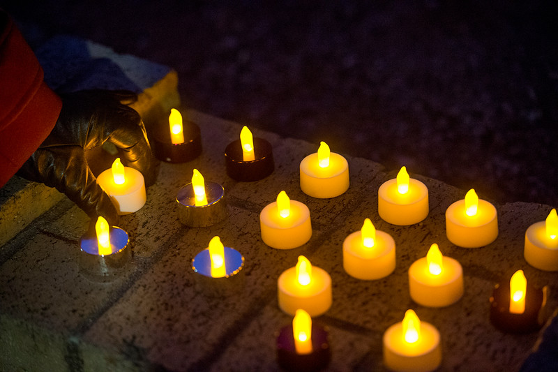 Unite Colorado Springs hosts a candlelight vigil in response to the Las Vegas mass shooting, at Acacia Park in Colorado Springs, Colo. on Tuesday, Oct. 3, 2017. Many people brought their own candles, plus extra so that there were plenty to go around.
