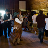 Members of the Old Time Dancers lead visitors in a barn dance at the Rock Ledge Ranch Harvest Festival on Saturday, Oct. 7, 2017. The Harvest Festival is one of a few free days at the ranch and drew a crowd estimated at over 5,600.<br /> <br /> (The Gazette, Nadav Soroker)