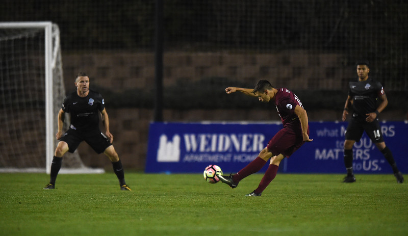 The Colorado Springs Switchbacks defeated the Sacramento Republic 1-0 at Wiedner Field on Saturday, Oct. 7, 2017.<br /> <br /> (The Gazette, Nadav Soroker)