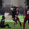 Switchbacks forward Shawn Chin, center, takes control of the ball against the Sacramento Republic at Wiedner Field on Saturday, Oct. 7, 2017.<br /> <br /> (The Gazette, Nadav Soroker)