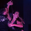 Becky Martinez and Benjamin Bridge dance during the  Swingin' with the Stars event at Stargazers Theater on Sunday, Oct. 8, 2017. Martinez and Bridge were both amateur dancers who filled in for several ill performers.<br /> <br /> (The Gazette, Nadav Soroker)